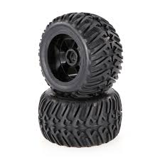 100 Rc Truck Wheels Black 2pcs 267 Inch 124mm Rock Crawler Monster Wheel Rim