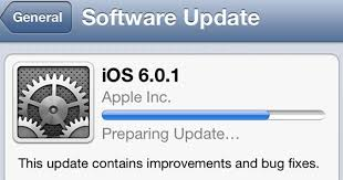 iOS 6 0 1 Released Fix to iPhone 5 upgrade issue for iOS 6 0 1
