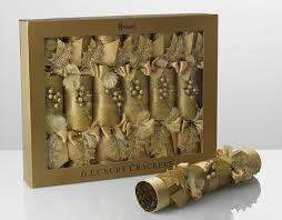 very gold christmas crackers from harrods adds bling to the
