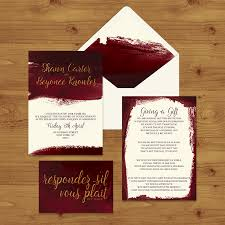 MARSALA WINE WEDDING INVITATION SUITE
