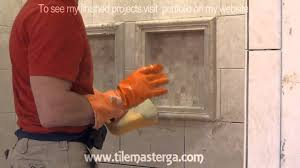 part 6 how to apply grout on shower wall tiles diy bathroom