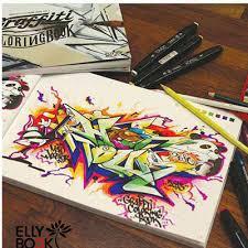 Elly BookGraffiti Coloring Book Drawing Graffiti Stickers Street Art Painting Tattoo