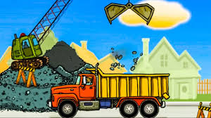 Construction Vehicles For Kids ♫ Dump Truck For Children ♫ Diggers ...