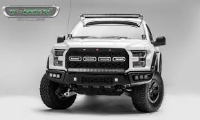 100 Grills For Trucks 20172019 F150 Raptor SVT Revolver Grille Black 1 Pc Replacement Chrome Studs Incl 4 6 LEDs Fits Vehicles With Camera PN 6515671