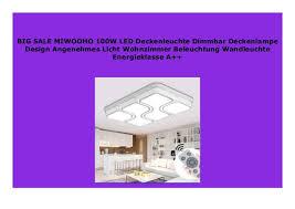 best price miwooho 100w led deckenleuchte dimmbar
