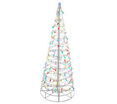 4 pre lit collapsible outdoor christmas tree with led lights