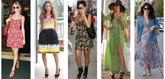 Its Not Only The Weather Thats Heating Up But Celebrity Summer Fashion Too This Season Get Floaty Floral Fabrics Out And Be Inspired By