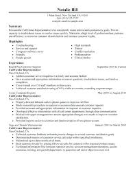 Call Center Resume Objective Examples Good Customer Service Supervisor