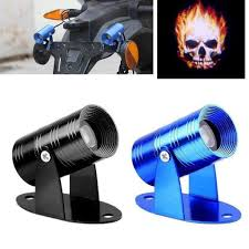 Halloween Ghost Projector by 3d Laser Ghost Flaming Skull Rider Motorcycle Laser Projector Led