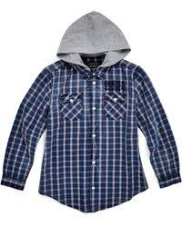 Guess Walker Long sleeve Military Slim fit Shirt in Blue for Men