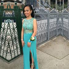 2016 new trend turquoise long prom dresses backless split