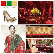 Wedding Color Inspiration Red Green Gold