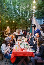 Holiday Gathering ~ Gingerbread House Party   Sirens & Scoundrels Staggering Party Ideas Day To Considerable A Grinchmas Christmas Outstanding Decorations Backyard Fence Six Tips For Hosting A Fall Dinner Daly Digs Diy Graduation Decoration Fiskars Charming Outdoor At Fniture Design Amazoncom 50ft G40 Globe String Lights With Clear Bulbs Christmas Party Ne Wall Backyards Ergonomic Birthday Table For Parties Landscape Lighting Front Yard Backyard Rainforest Islands Ferry