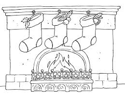 Stockings By The Fire Coloring Page A Warm And Cozy Christmas Scene For You To
