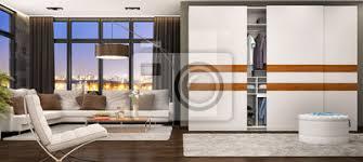 fototapete moderne kleiderschrank im wohnzimmer