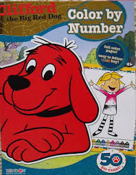 Clifford Halloween Book by Amazon Com Clifford The Big Red Dog Color By Number Coloring Book