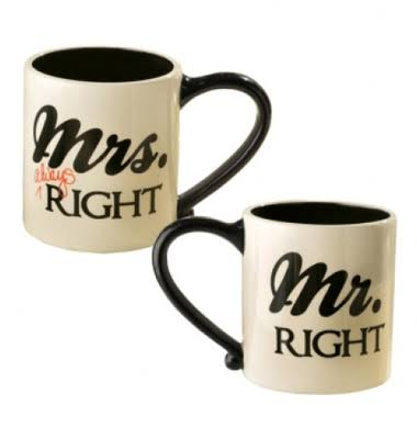 Grasslands Road Mr. and Mrs. Always Right Coffee Mugs