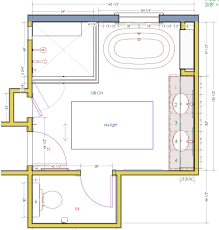 Bathroom Floor Plans Images by Standard 9ft X 7ft Master Bathroom Floor Plan With Bath And Shower