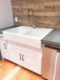 Double Farmhouse Sink Ikea by Retrofitting A Cabinet For A Farm House Sink Bower Power
