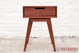modern diy end table side table fixthisbuildthat