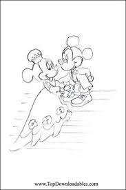Disney Minnie Mickey Wedding Coloring Page