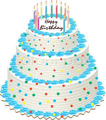 big birthday cake candles big vector illustration of birthday cake with burning candles stock vector picture