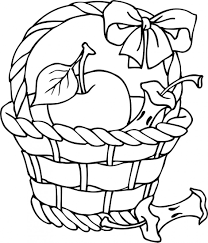 Pin Drawn Basket Apple Clipart Black And White 7