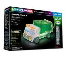Amazon.com: Laser Pegs Garbage Truck 12-in-1 Building Set Building ...