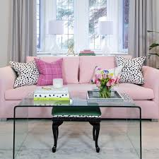 Sofa Pink by White Roll Arm Sofa With Salmon Pink Pillow Transitional