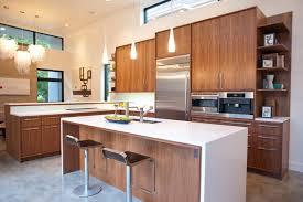 unpolished solid wood floors mid century modern kitchen lighting