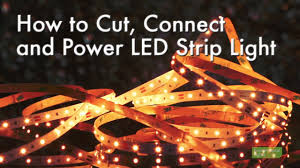 how to cut connect and power led lights