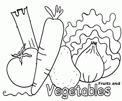 Printable Fruits And Vegetables Coloring Pages Images Pictures