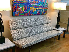 Eames Sofa Compact Used by Herman Miller Fabric Ebay