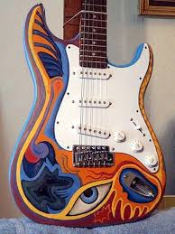 Rockin Robyn Custom Painted Guitars