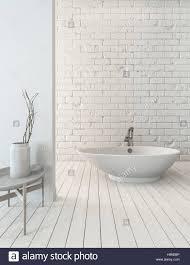 3d rendering schicke badewanne auf hölzernen dielenboden