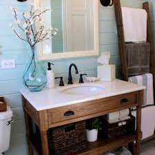Bathrooms Design Remarkable Farm Style Bathroom Vanities For Your Diy Vanity Lights With Farmhouse Sink Bath Tops Rustic Unit Trough Grey And White Navy