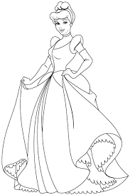 To Print Coloring Pages Of Cinderella