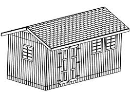 10x20 Shed Plans With Loft by 10x20 Gable Shed Plans Large Shed Plans Step By Step Download