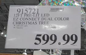 Deal For A 12 Ft Pre Lit Dual Color LED Christmas Tree At Costco