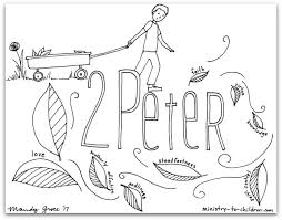 2 Peter Bible Book Coloring Page