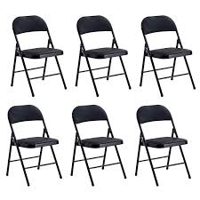 Trustiwood Set Of 6 Folding Chair Conference Stackable Chair Faux ...