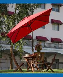 Offset Rectangular Patio Umbrellas by Offset Patio Umbrella With Led Lights Nucleus Home