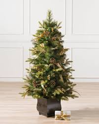 Coloma Golden Pine Potted Artificial Christmas Tree