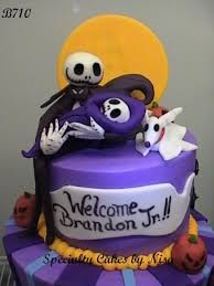 nightmare before christmas cake jack holding the baby babies