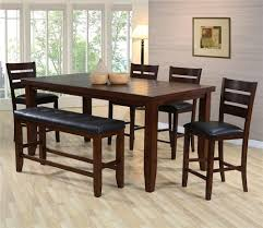 Crown Mark Bardstown Pub Table Set with Bench Furniture Fair