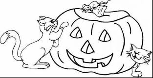 Remarkable Fall Pumpkin Coloring Pages Printable With Page And For Toddlers