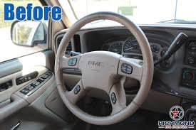 2003-2007 GMC Sierra Denali Leather Steering Wheel Cover: Driver ... Truck Steering Wheel Cover Black Silver 4446cm Roadkingcouk Brown Masque Grey 4748cm 14 F814h Forever Sharp Wheels Scania 3series Black Real Italian Leather Steering Wheel Cover 1987 Wheel In A Truck Stock Photo Image Of Switches 40572066 Fichevrolet Ww Ii Fire Eagle Field Two Steering Wheeljpg Bestfh Rakuten Leather Car Auto American Simulator Youtube Pro Usa Chevy Gm Perforated Ss