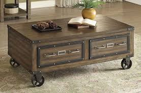 Industrial Style Storage Coffee Table