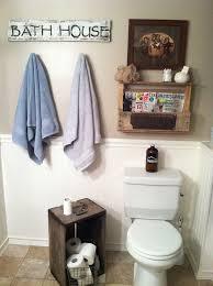 Rustic Bathroom Decor Diy Barn Wood Signpallet Shelf Accessories