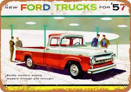 100 1957 Ford Truck Amazoncom WallColor 7 X 10 METAL SIGN S